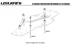 Usukani/Chassis Traction Arm/Only For Usukani YD-2 CF Chassis